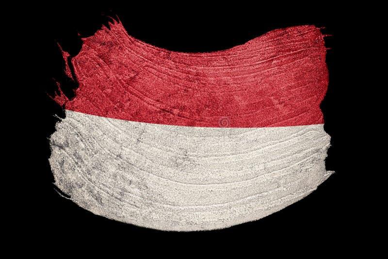 Σημαία της Ινδονησίας Grunge Σημαία της Ινδονησίας με τη σύσταση grunge brunhilda ελεύθερη απεικόνιση δικαιώματος