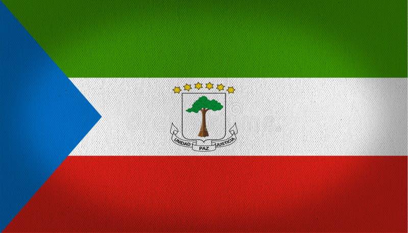Σημαία της Ισημερινής Γουινέας διανυσματική απεικόνιση