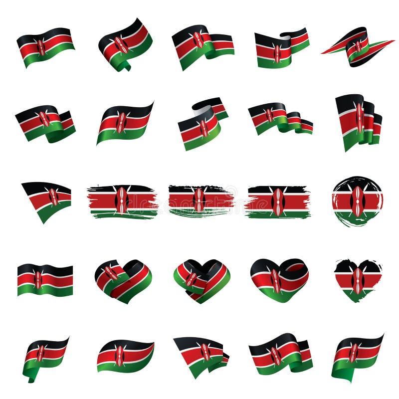 Σημαία της Κένυας, διανυσματική απεικόνιση διανυσματική απεικόνιση