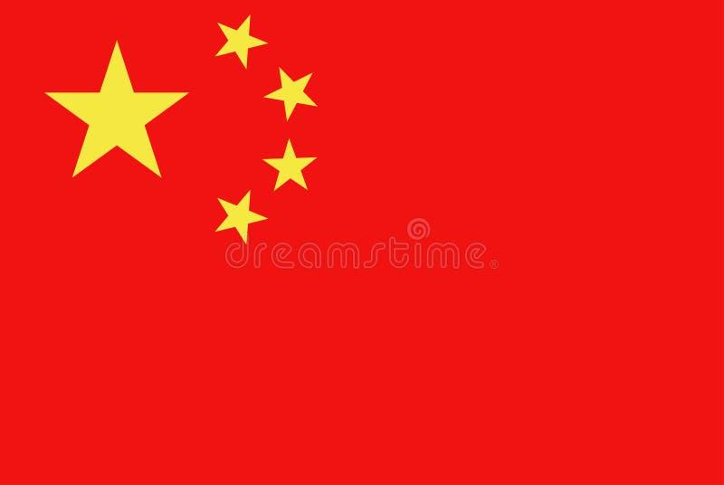 σημαία της Κίνας διανυσματική απεικόνιση