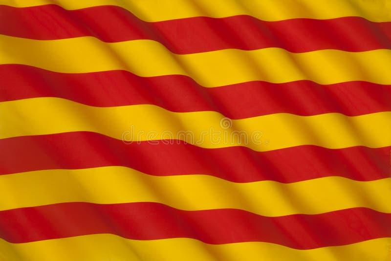 Σημαία της Καταλωνίας - της Ισπανίας - της Ευρώπης στοκ φωτογραφία με δικαίωμα ελεύθερης χρήσης