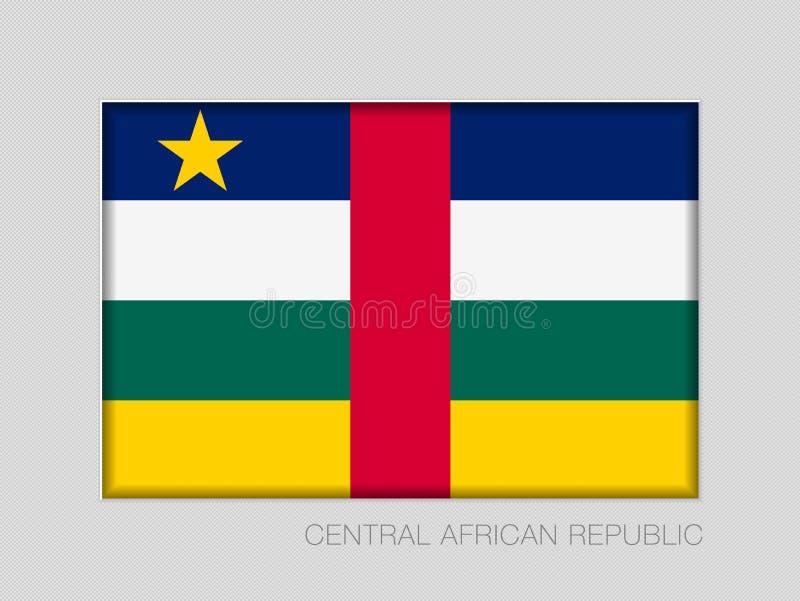 Σημαία της Κεντροαφρικανικής Δημοκρατίας Εθνικός Ensign λόγος διάστασης 2 έως 3 στο γκρίζο χαρτόνι απεικόνιση αποθεμάτων