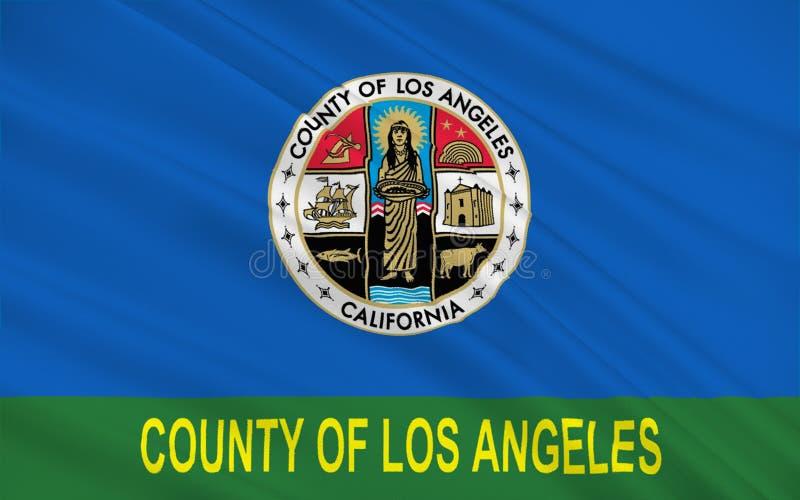Σημαία της Κομητείας του Λος Άντζελες, Καλιφόρνια, ΗΠΑ διανυσματική απεικόνιση