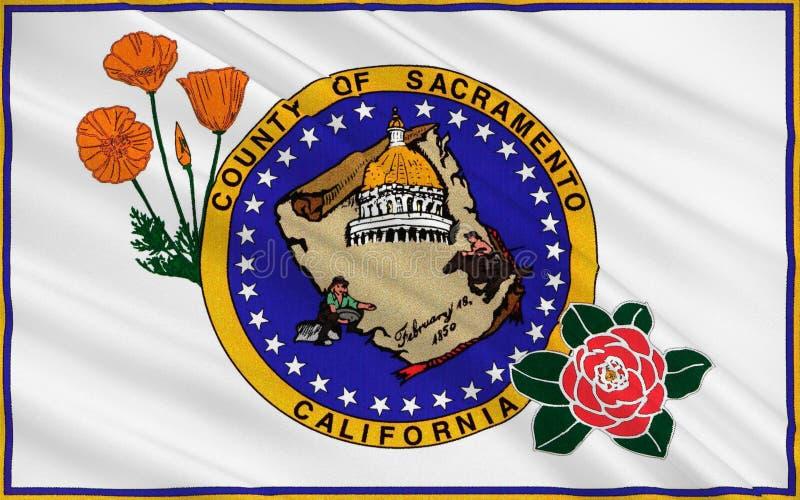 Σημαία της κομητείας του Σακραμέντο, Καλιφόρνια, ΗΠΑ διανυσματική απεικόνιση
