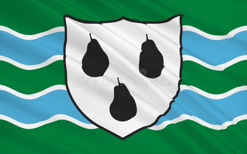 Σημαία της κομητείας Worcestershire, Αγγλία απεικόνιση αποθεμάτων