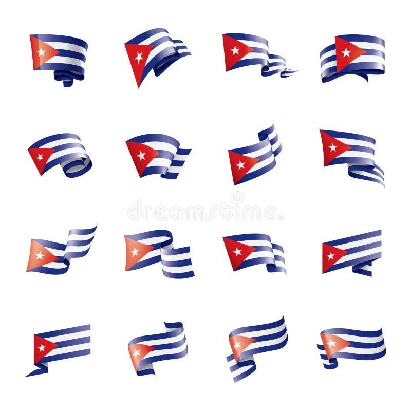 Σημαία της Κούβας, διανυσματική απεικόνιση σε ένα άσπρο υπόβαθρο απεικόνιση αποθεμάτων