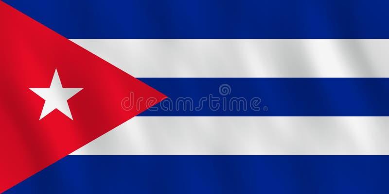 Σημαία της Κούβας με την επίδραση κυματισμού, επίσημη αναλογία διανυσματική απεικόνιση