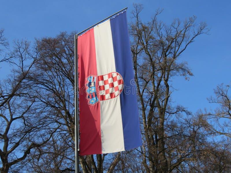σημαία της Κροατίας στοκ εικόνες με δικαίωμα ελεύθερης χρήσης
