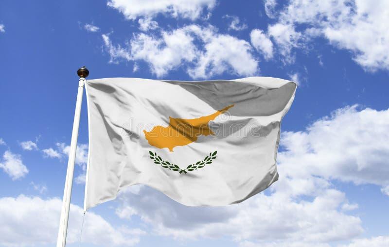 Σημαία της Κύπρου, ειρήνη μεταξύ των Τούρκων και Ελλήνων στοκ εικόνες