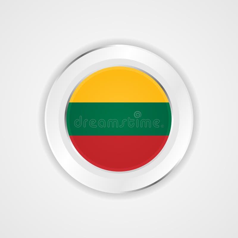 Σημαία της Λιθουανίας στο στιλπνό εικονίδιο απεικόνιση αποθεμάτων