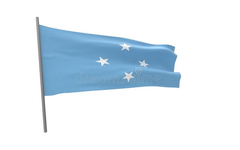 Σημαία της Μικρονησίας ελεύθερη απεικόνιση δικαιώματος