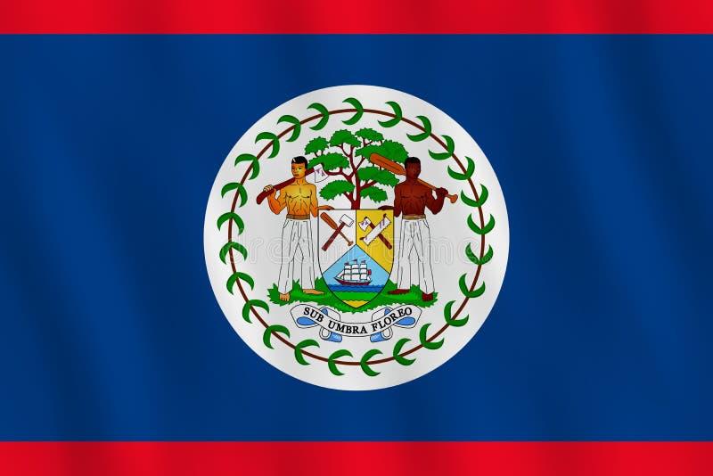 Σημαία της Μπελίζ με την επίδραση κυματισμού, επίσημη αναλογία απεικόνιση αποθεμάτων