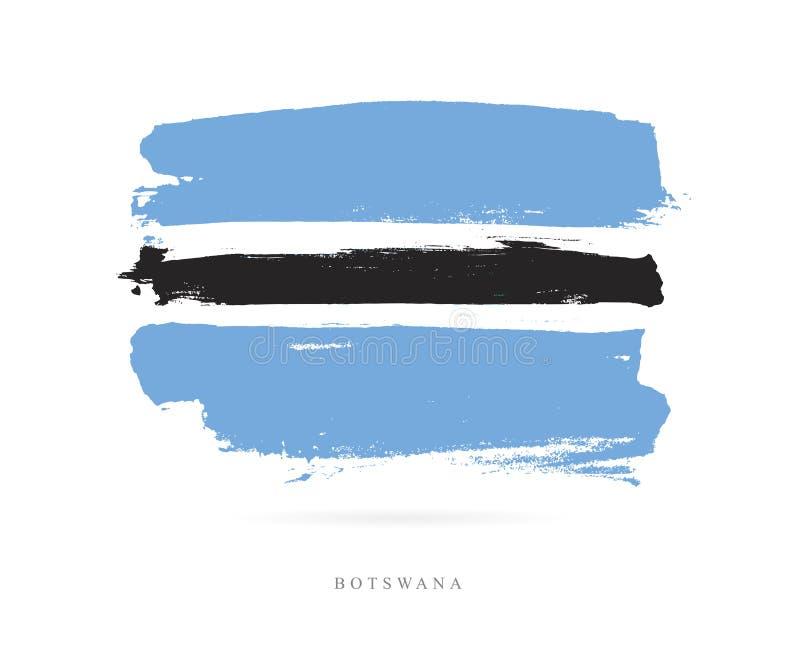 σημαία της Μποτσουάνα Αφηρημένη έννοια ελεύθερη απεικόνιση δικαιώματος