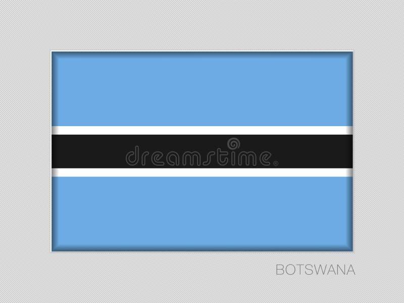 Σημαία της Μποτσουάνα Εθνικός Ensign λόγος διάστασης 2 έως 3 στο γκρίζο χαρτόνι ελεύθερη απεικόνιση δικαιώματος