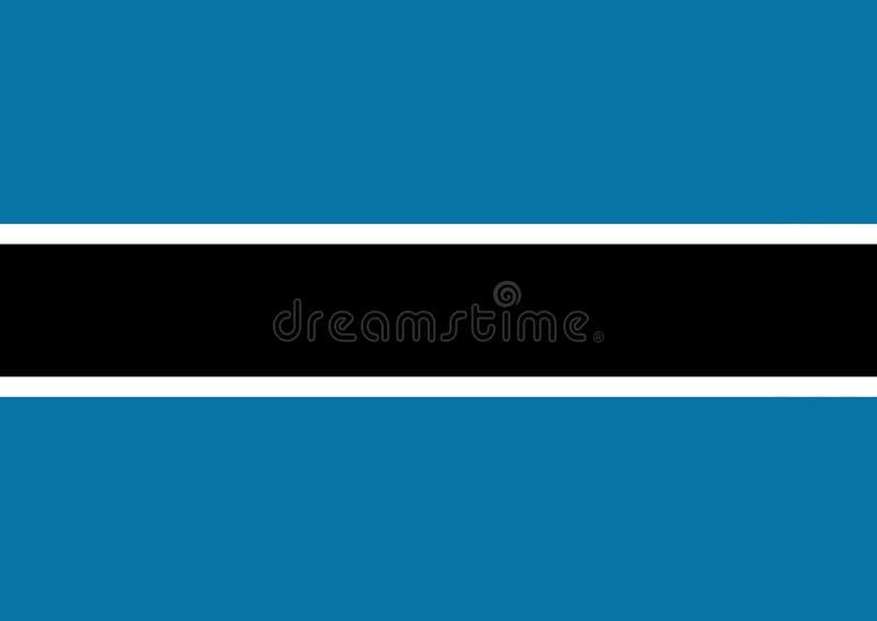σημαία της Μποτσουάνα ελεύθερη απεικόνιση δικαιώματος