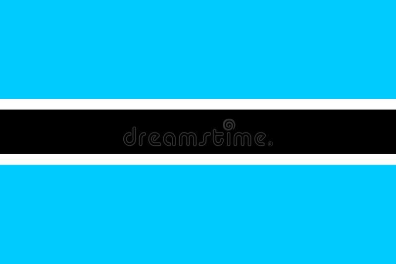 σημαία της Μποτσουάνα απεικόνιση αποθεμάτων