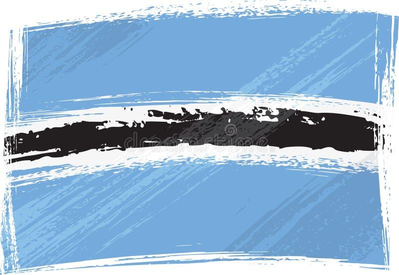 σημαία της Μποτσουάνα grunge απεικόνιση αποθεμάτων