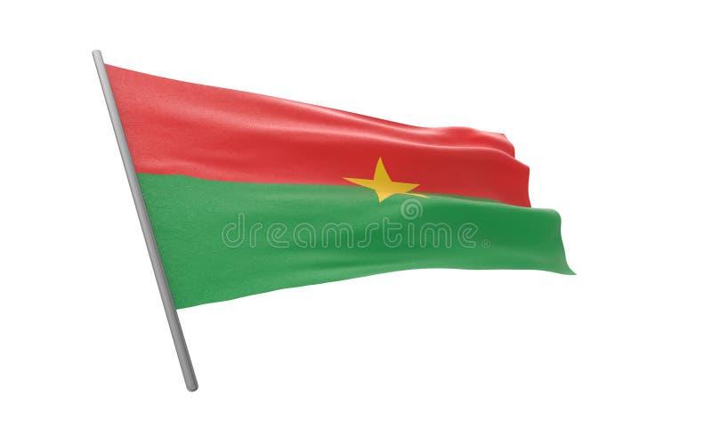 Σημαία της Μπουρκίνα Φάσο απεικόνιση αποθεμάτων