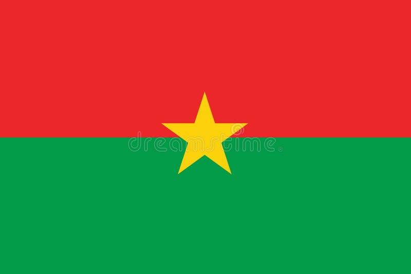 Σημαία της Μπουρκίνα Φάσο ελεύθερη απεικόνιση δικαιώματος