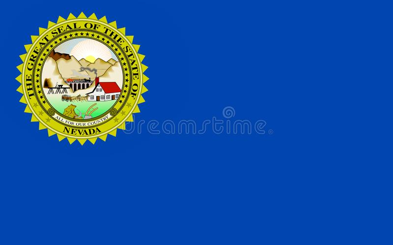 Σημαία της Νεβάδας, ΗΠΑ στοκ φωτογραφία με δικαίωμα ελεύθερης χρήσης