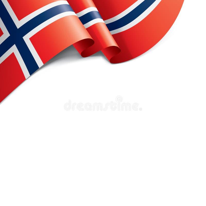 Σημαία της Νορβηγίας, διανυσματική απεικόνιση σε ένα άσπρο υπόβαθρο απεικόνιση αποθεμάτων