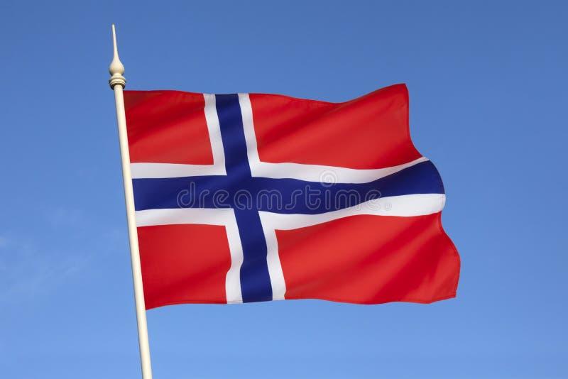 Σημαία της Νορβηγίας - Σκανδιναβίας - της Ευρώπης στοκ φωτογραφία με δικαίωμα ελεύθερης χρήσης