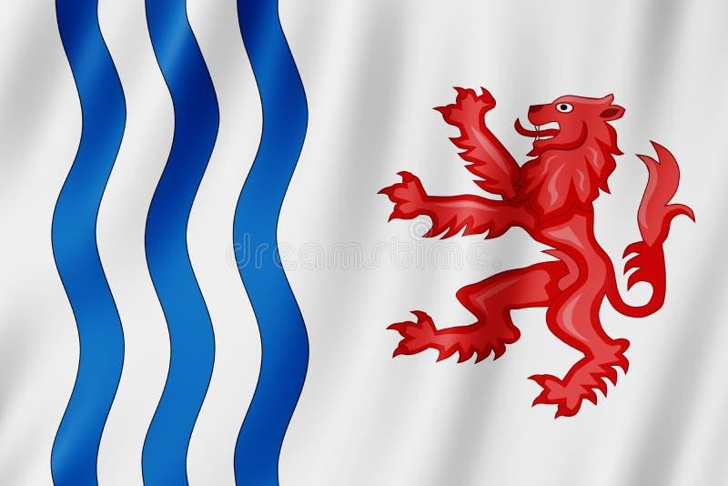 Σημαία της νουβέλας Aquitaine, Γαλλία διανυσματική απεικόνιση