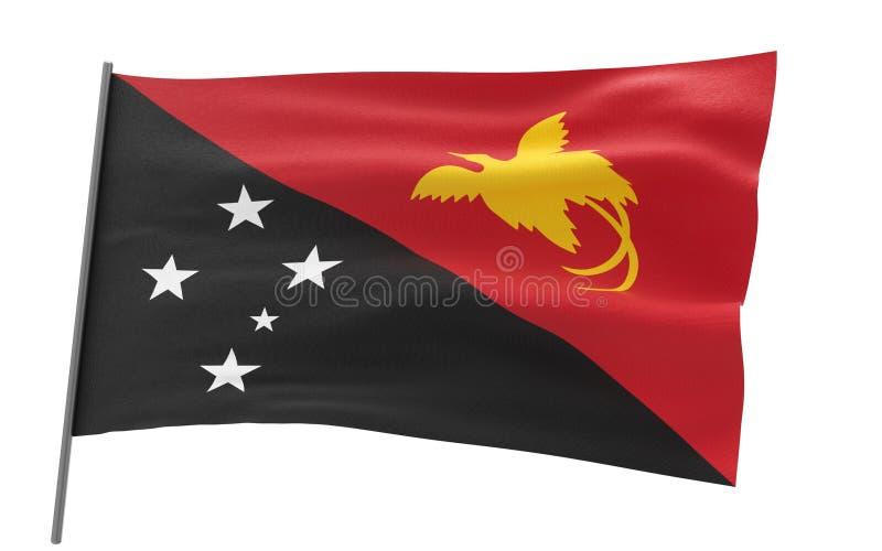 Σημαία της Παπούα Νέα Γουϊνέα απεικόνιση αποθεμάτων
