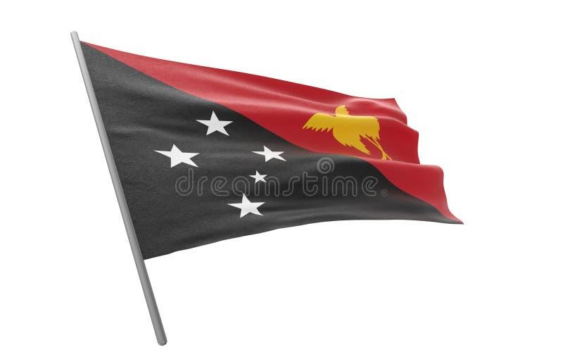 Σημαία της Παπούα Νέα Γουϊνέα ελεύθερη απεικόνιση δικαιώματος