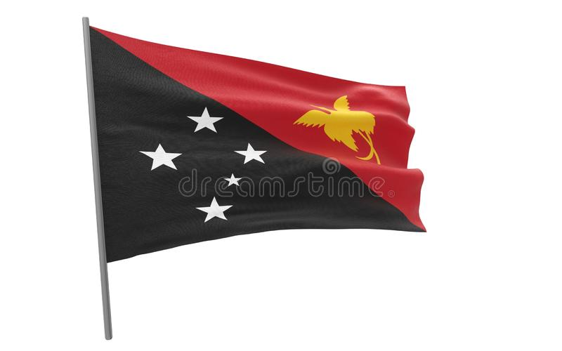 Σημαία της Παπούα Νέα Γουϊνέα διανυσματική απεικόνιση
