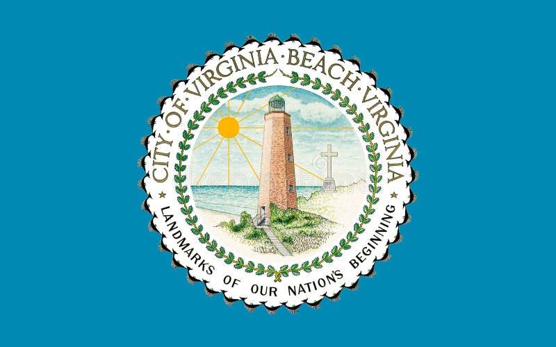 Σημαία της παραλίας της Βιρτζίνια στη Βιρτζίνια, ΗΠΑ στοκ εικόνες