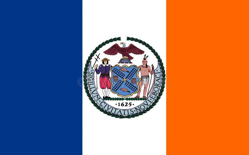Σημαία της πόλης της Νέας Υόρκης, ΗΠΑ στοκ φωτογραφίες