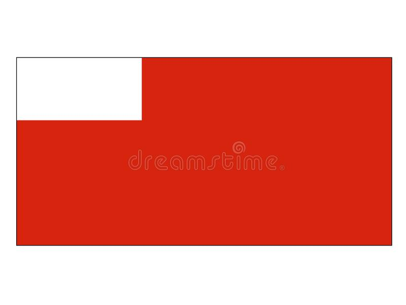 Σημαία της πόλης του Αμπού Ντάμπι διανυσματική απεικόνιση