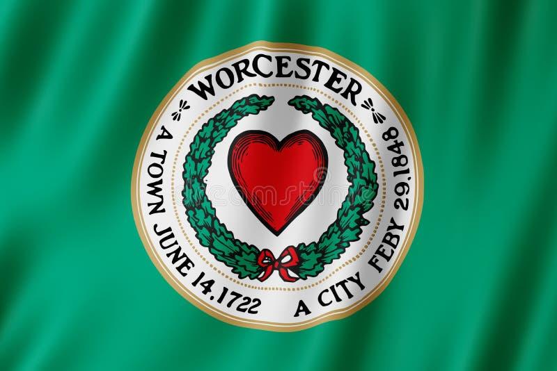 Σημαία της πόλης του Worcester, Μασαχουσέτη ΗΠΑ ελεύθερη απεικόνιση δικαιώματος