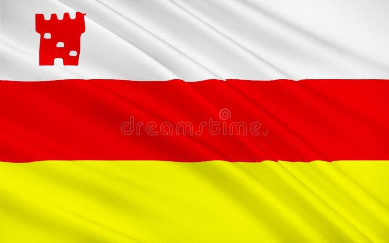 Σημαία της πόλης Santa Barbara, Καλιφόρνια, ΗΠΑ ελεύθερη απεικόνιση δικαιώματος
