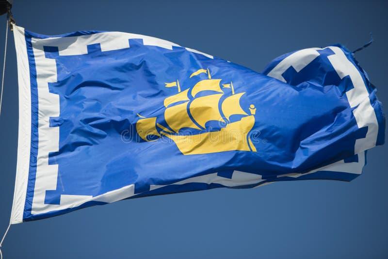 Σημαία της πόλης του Κεμπέκ στοκ φωτογραφία με δικαίωμα ελεύθερης χρήσης