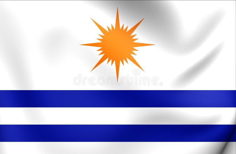 Σημαία της πόλης Palmas, Βραζιλία ελεύθερη απεικόνιση δικαιώματος