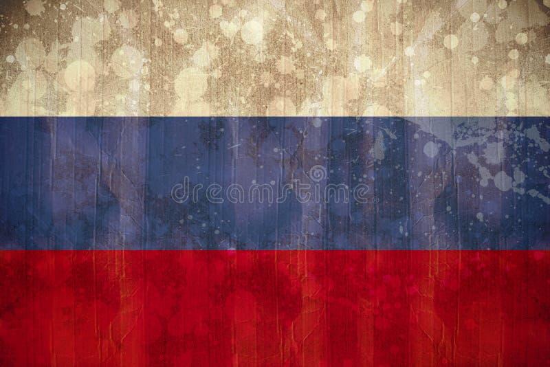 Σημαία της Ρωσίας στην επίδραση grunge ελεύθερη απεικόνιση δικαιώματος