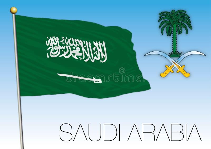 Σημαία της Σαουδικής Αραβίας και κόστος των όπλων διανυσματική απεικόνιση