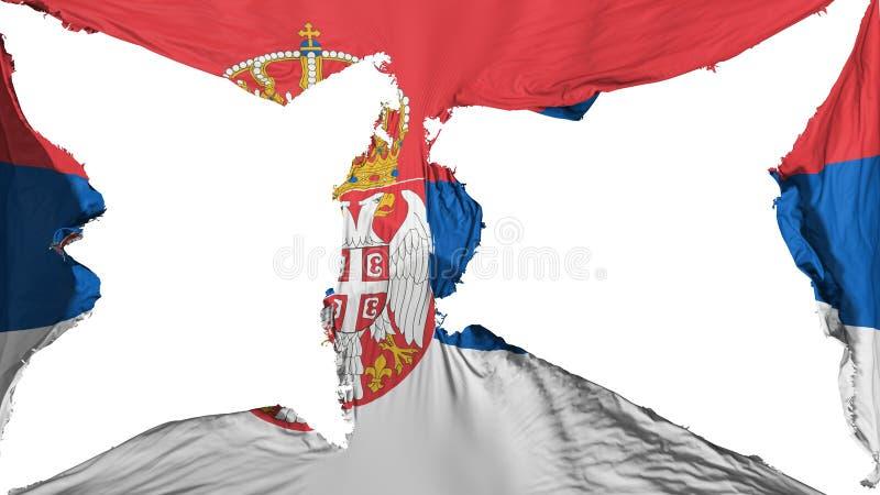 Σημαία της Σερβίας διανυσματική απεικόνιση