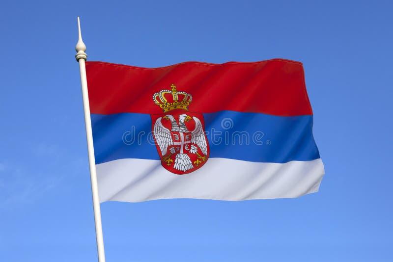 Σημαία της Σερβίας - της Ευρώπης στοκ φωτογραφία με δικαίωμα ελεύθερης χρήσης