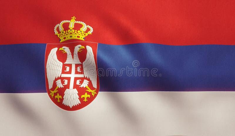 Σημαία της Σερβίας στοκ εικόνες