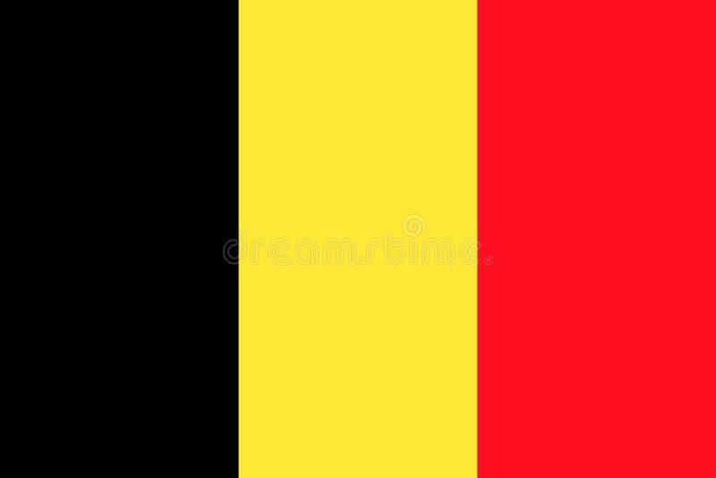 Σημαία της σημαίας του Βελγίου απεικόνιση αποθεμάτων