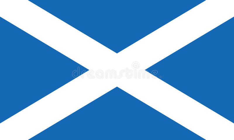 Σημαία της Σκωτίας γνωστής επίσης ως σταυρό του ST Andrews ή Saltire διανυσματική απεικόνιση