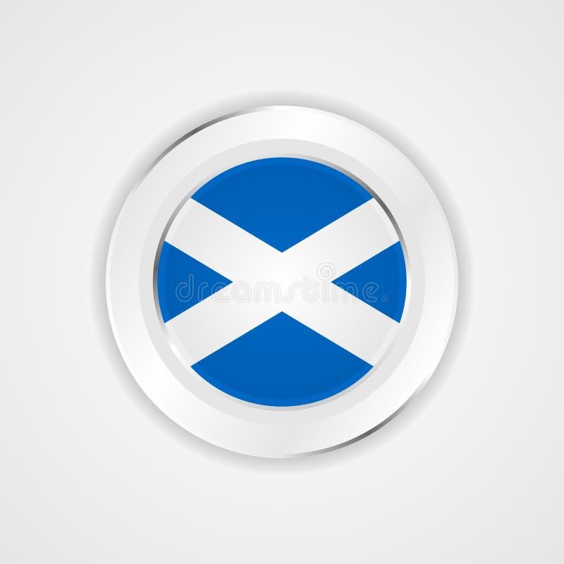 Σημαία της Σκωτίας στο στιλπνό εικονίδιο απεικόνιση αποθεμάτων