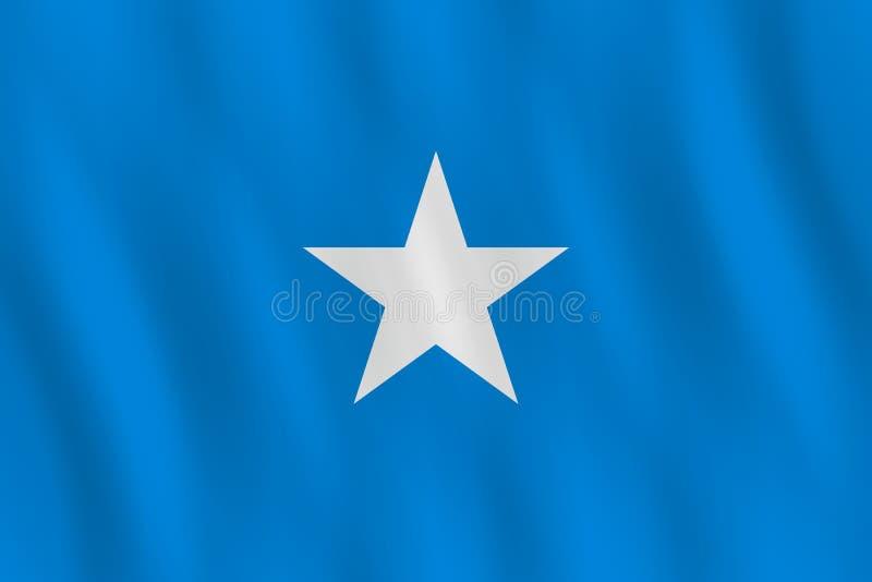 Σημαία της Σομαλίας με την επίδραση κυματισμού, επίσημη αναλογία ελεύθερη απεικόνιση δικαιώματος