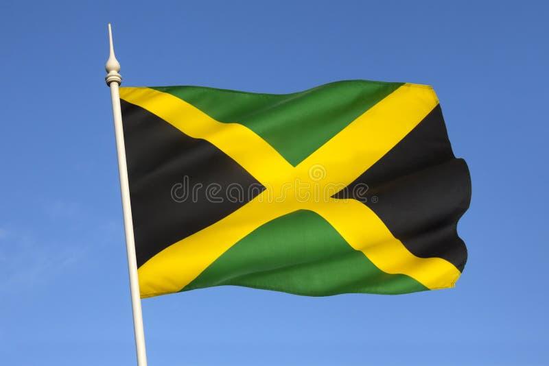 Σημαία της Τζαμάικας - οι Καραϊβικές Θάλασσες στοκ εικόνες με δικαίωμα ελεύθερης χρήσης