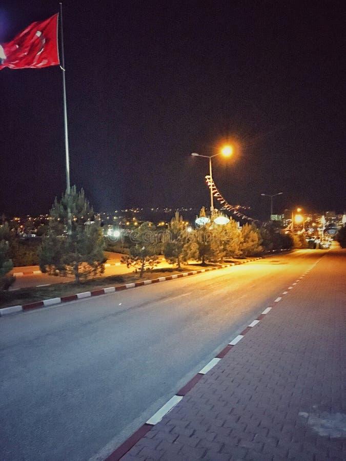 Σημαία της Τουρκίας σε KBÃœ στοκ εικόνα