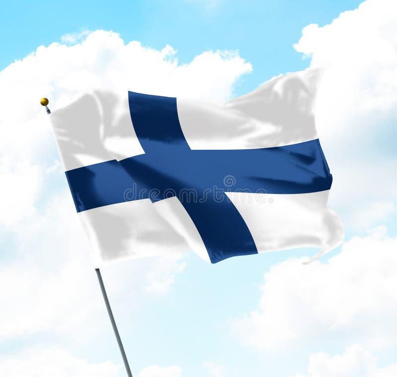 σημαία της Φινλανδίας στοκ εικόνες με δικαίωμα ελεύθερης χρήσης
