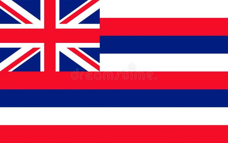Σημαία της Χαβάης, ΗΠΑ στοκ εικόνες